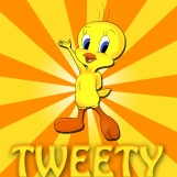 tweety_bird___commission_by_naffer_art-d5hamj5
